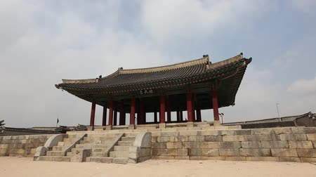 Traditional architecture of Korean Style at Hwaseong Fortress, a UNESCO World Heritage site, Suwon, South Korea.