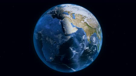 continent : Planet Earth overall view from space, with stars on background. Perfect seamless loop footage. Stock Footage
