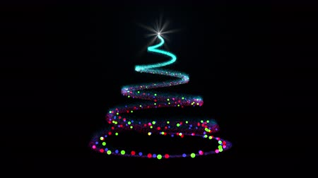 helezon : Sparkle trail Christmas tree with bright star on the top