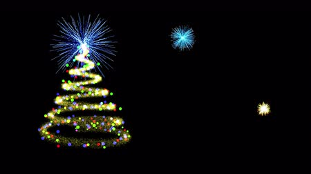 helezon : Glitter trails Christmas tree with amazing fireworks