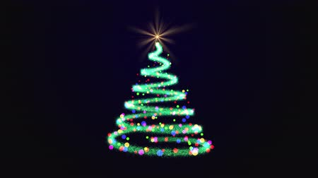 helezon : Beautiful twinkle Christmas tree with colorful baubles around
