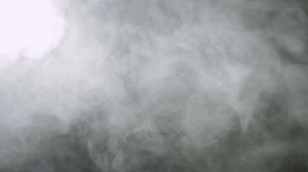 nevoeiro : Smoke background. Abstract smoke cloud. Smoke in slow motion on black background. White smoke slowly floating through space against black background. Smoke effect. Fog effect. Smoke machine