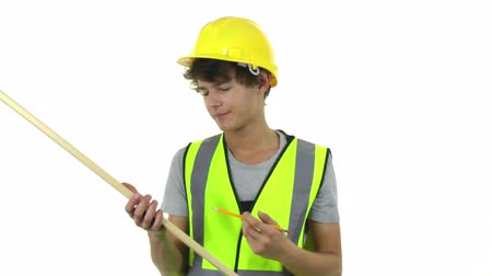 elektryk : Construction worker Wideo