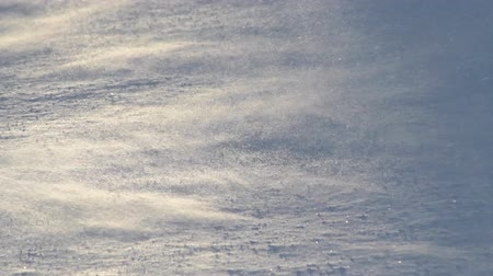 zimní : Closeup of blowing snow during a wind storm in Alaska