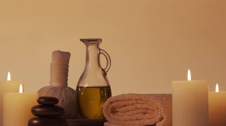 velas : Aromatherapy, oriental massage and spa treatment concept. Relaxation composition.