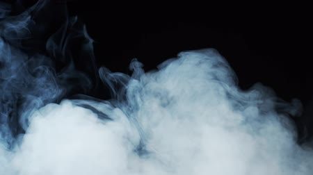 Smoke texture over blank black background