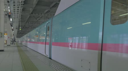 shinkansen : shinkansen at sendai station Stock Footage