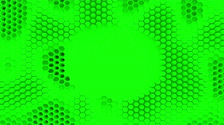 alchemy : Abstract green crystallized background. Honeycombs move like an ocean.