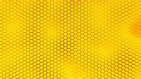 alchemy : Beautiful yellow hexagrid background with slow waves motion. Loop.