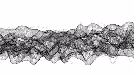 размеры : Abstract wireframe. Lines looped in a wave pattern. Can be used as matte mask. Стоковые видеозаписи