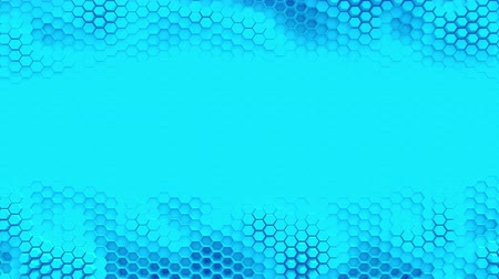polygone : Abstract blue crystallized background. Honeycombs move like an ocean. With place for text or logo. Loop Stock Footage