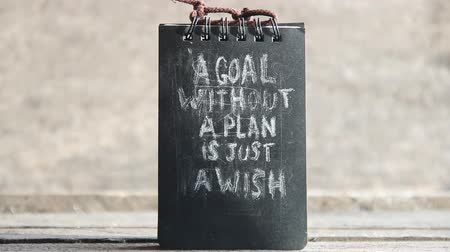 setting : a goal without a plan is just a wish text