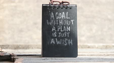 dilek : a goal without a plan is just a wish text