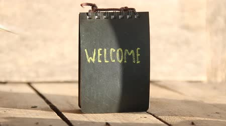 sentiment : welcome hand lettering