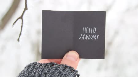 olá : Hello January creative concept