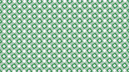 maszk : Symmetric rotation of squares on green background. Simple available animation. Background for ttransition