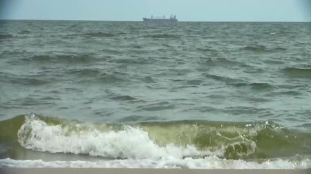 manmade : Ship traveling at open sea Stock Footage