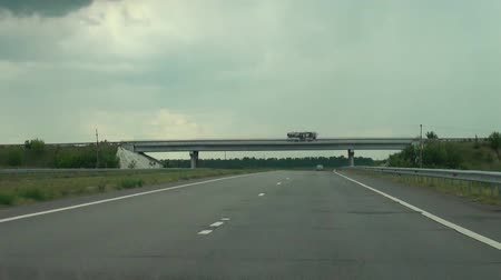 drive : Bridge, at countryside, built over a road