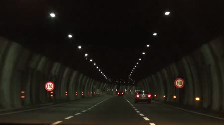 manmade : Automobile driving through tunnels