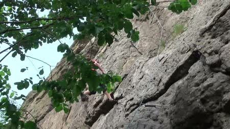 kotva : Climber after climbing down the cliff