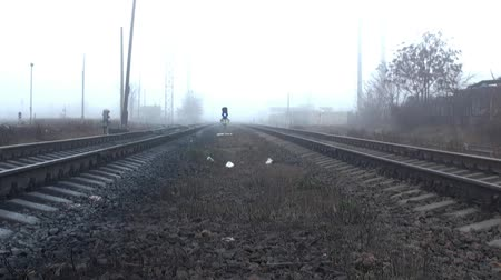 rachotit : Rails on the sleepers into the distance fog