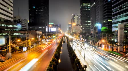 tajlandia : Night scene traffic in Bangkok city , Thailand Wideo