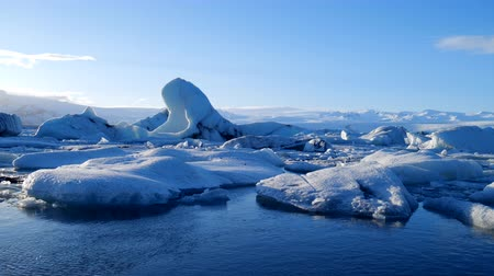 iceberg : Icebergs at ice lake. Ice and Snow Winter Nature Landscape. Ice Lagoon