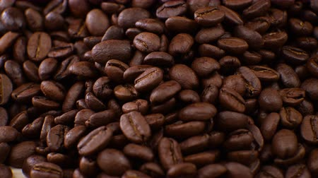 feijões : Coffee beans clouse up Beautiful coffee seeds.