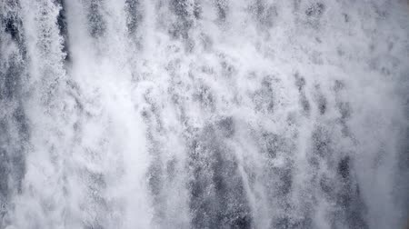 eco tourism : Waterfall close up slow motion, Iceland