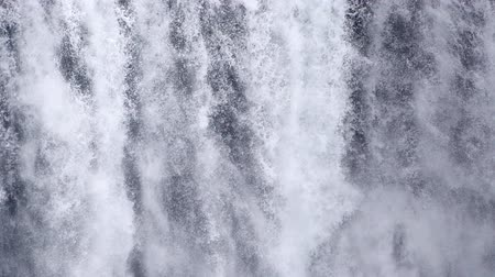 skogafoss : Waterfall close up slow motion, Iceland
