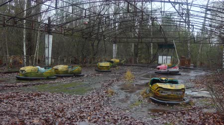 evacuated : Chornobyl old abandoned city, Abandoned house in the exclusion zone in Chernobyl, the city of Pripyat. April Stock Footage
