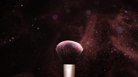 alapítvány : Colour Paint Concept, Make up brush with powder Slow Motion