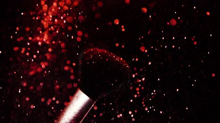 콤팩트 : Red Colour, Paint Concept, Make up brush with Red Powder, Slow Motion 무비클립