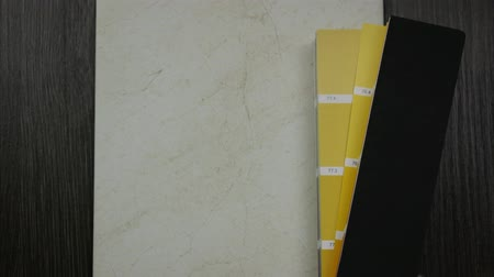 Selection of color for the color and texture of ceramic tiles. Stop motion