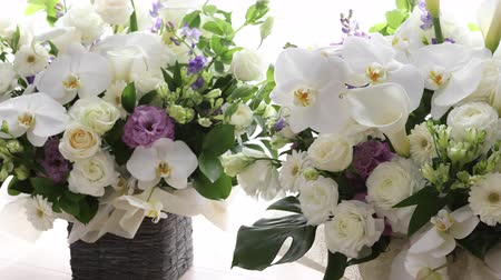 szegfű : White flower arrangement