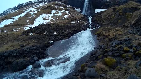 Large waterfall in Olafsik Iceland called Svoouoss