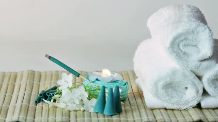 massages : Spa accessories  Stock Footage