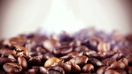 кофе : Roasting Coffee Beans Стоковые видеозаписи
