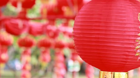 ano novo chinês : HD footage of Chinese red lantern,for celebrate spring festival, Day times