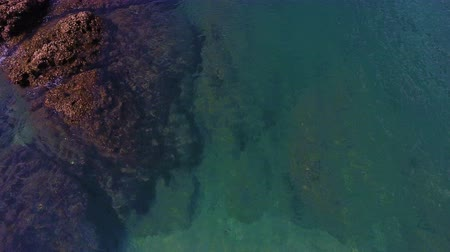 Aerial Tropical beach with rock, Patong Phuket Thailand Stock Footage