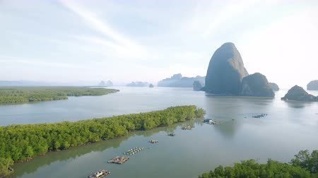 Aerial view on Local fisherman port in Phang-nga South of Thailand