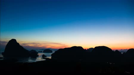 4K Time lapse sunrise with Phang-nga bay view Stock Footage