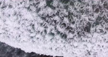 Aerial beach wave on tropical sea Stock Footage