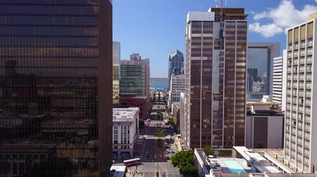 feribot : San Diego, CA - Downtown - Drone Video. Aerial Video of Downtown San Diego, CA. Stok Video