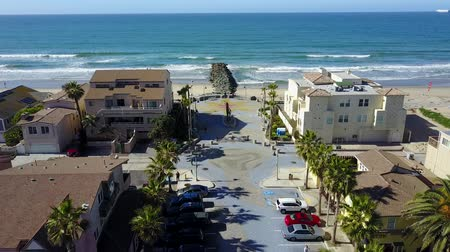 beach panorama : San Diego - Imperial Beach - Drone Video. Arial Video of Imperial Beach is a residential beach city in San Diego County, California, Stock Footage