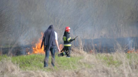 wisla : This is a view of fire by the Vistula river in Warsaw. April 11, 2015. Beach by the Vistula river in Warsaw, Poland.