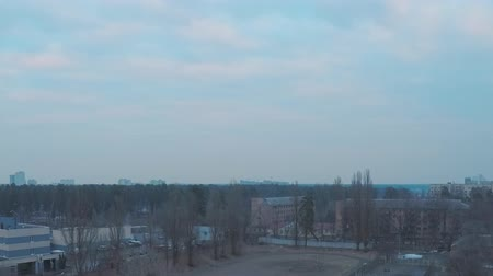 древесный : 4K time lapse, overcast evening, the sky quickly darkens, early spring Стоковые видеозаписи