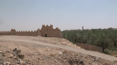 mosque : Ad Dareyah Historical Town in Riyadh Stock Footage