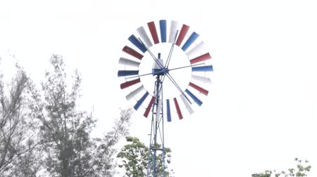 Farm wind turbine Wideo
