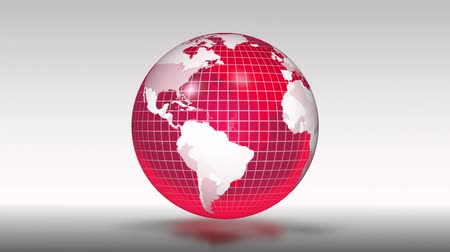 red background : Looping background with red globe.